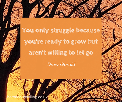 Coping with loss - Struggle and letting go quote