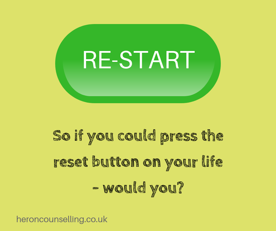 Coping with loss - Restart your life button