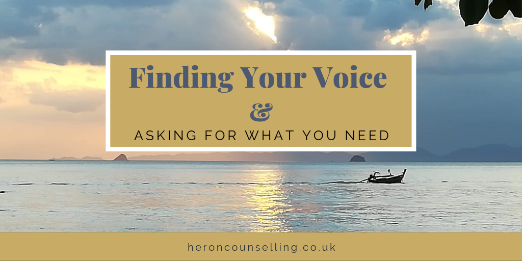 Find Your Voice and Ask for What You Need